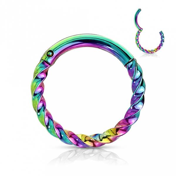 Bilde av Twisted Hinged Ring Rainbow