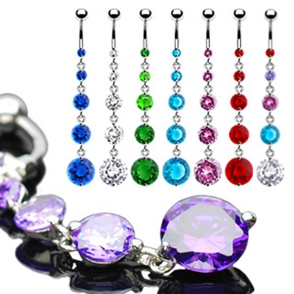 Bilde av 5 Round Solitare Cz Crystal