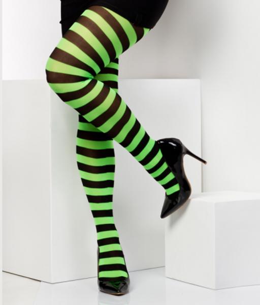 Bilde av Striped Green Tights