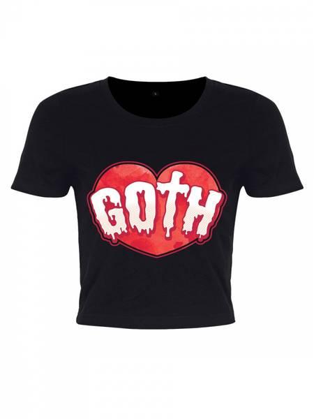 Bilde av Goth Crop Top