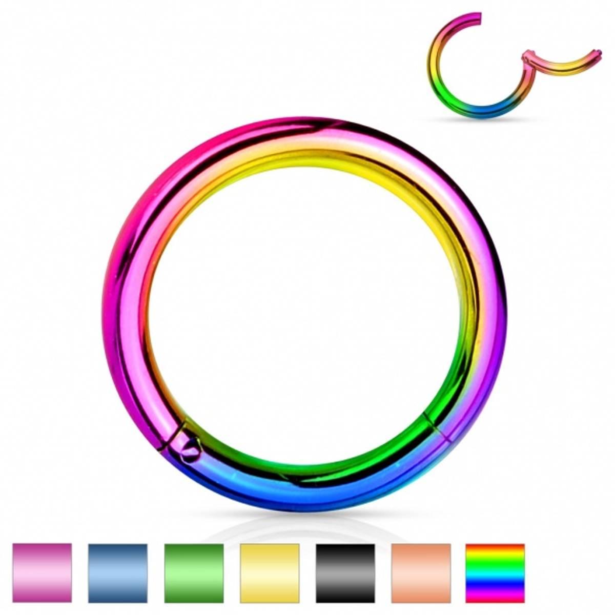 Hinged 1,2 x 8mm Segment Rings Color
