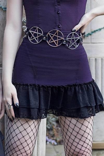 Bilde av Adoria Bustle Skirt [PLUM]
