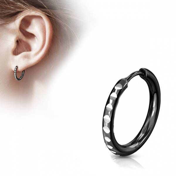 Bilde av Hoop Earring with Round Cut