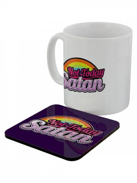 Bilde av Not Today Satan Mug & Coaster