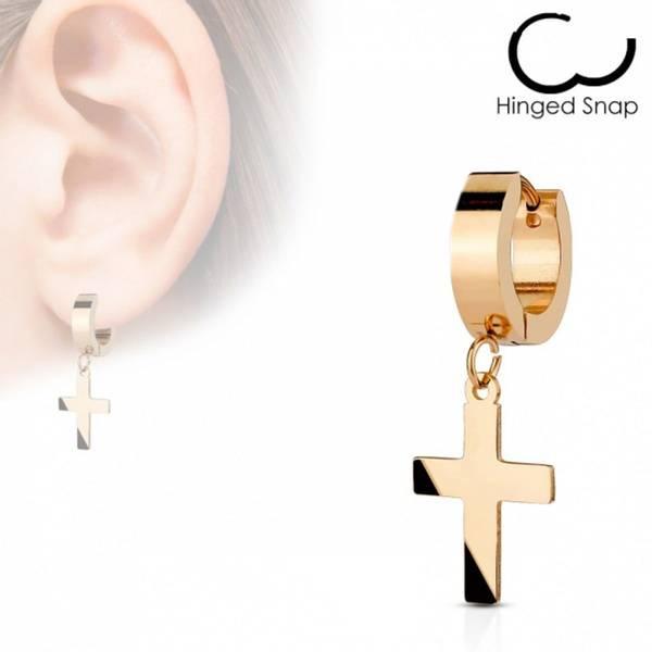 Bilde av Hoop Earring Cross Dangle