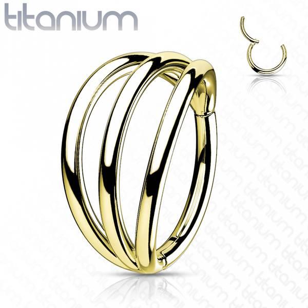 Bilde av Trippel hinged ring gold