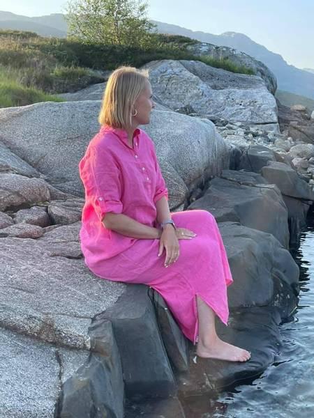 Bilde av Lang linkjole rosa