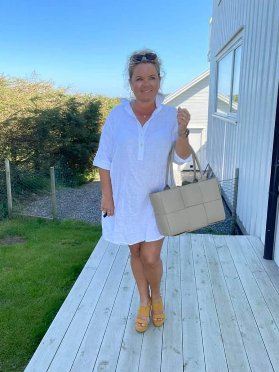 Tunica /kjole hvit
