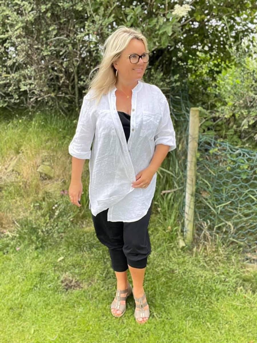 Oversize shirt hvit