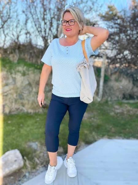 Bilde av Shantal capri marineblå