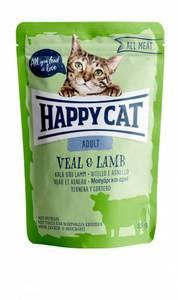 Bilde av HAPPY CAT POUCHES ADULT KALV & LAM 85G