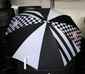 Bilde av GULF Racing paraply - Svart / hvit