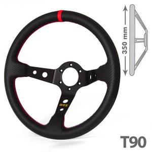 Bilde av RRS karbon utseende 3 eiker 90 svart / rød ratt