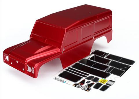 Bilde av Traxxas Body Land Rover Defender Rød