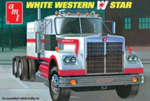 Bilde av 1:25 White Western Star Semi Tractor