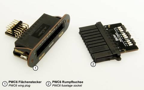 Bilde av Emcotec vingekontakt for 6 servoer