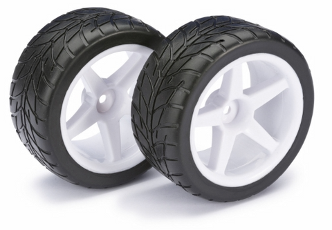 Bilde av Wheel Set Buggy 5-Spoke/Street Front White 1:10