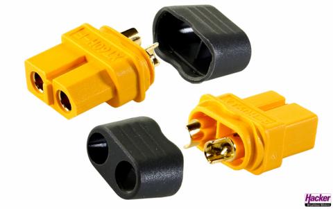 Bilde av XT-60+ Socket m/kappe 5-pk