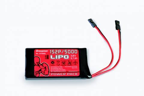 Bilde av Graupner Transmitter battery LiPo 1S2P/5000 3,8 V