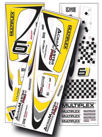 Bilde av Multiplex Decal set Acromaster Pro Yellow Silver