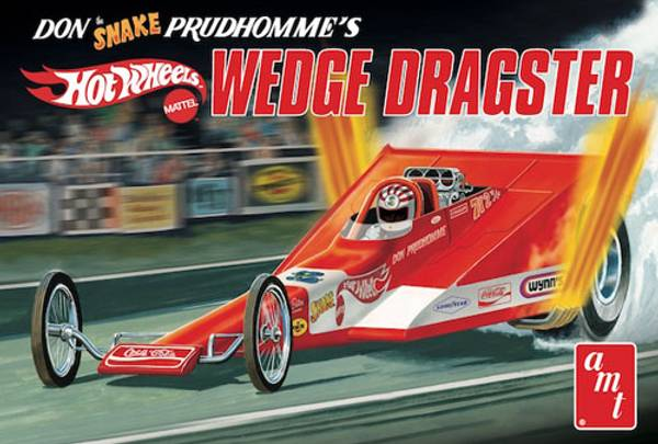"""AMT1049 - Don """"The Snake"""" Prudhomme's Hot Wheels Wedge Dragster"""