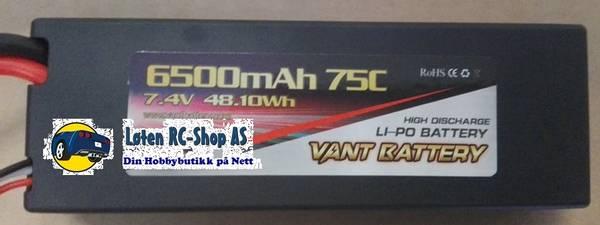 Bilde av 2S 7.4v 6500mah LiPo 75C
