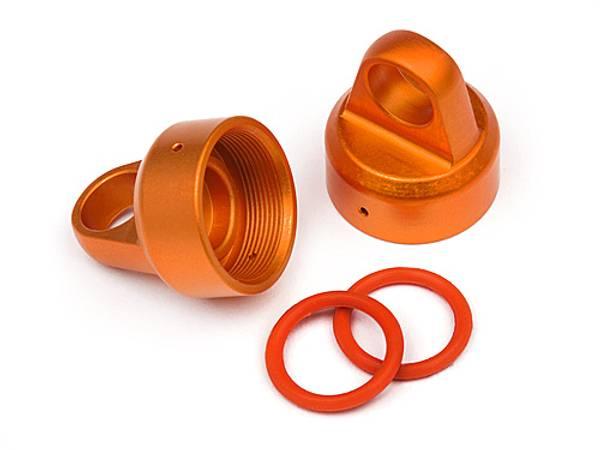 HPI-108070 - Aluminium Top Shock Cap (Orange/2pcs)