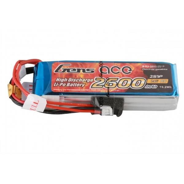 2S 7.4V 2600mAh LiPo TX/RX-Pack