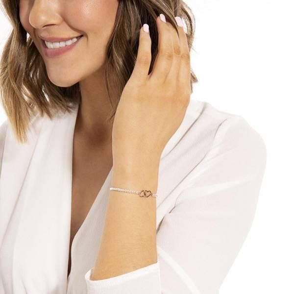 Armbånd BEAUTIFUL FRIEND Hjerter rosegull Joma Jewellery