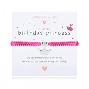 Bilde av Armbånd BIRTHDAY PRINCESS Sølv rosa Barn Joma Jewellery