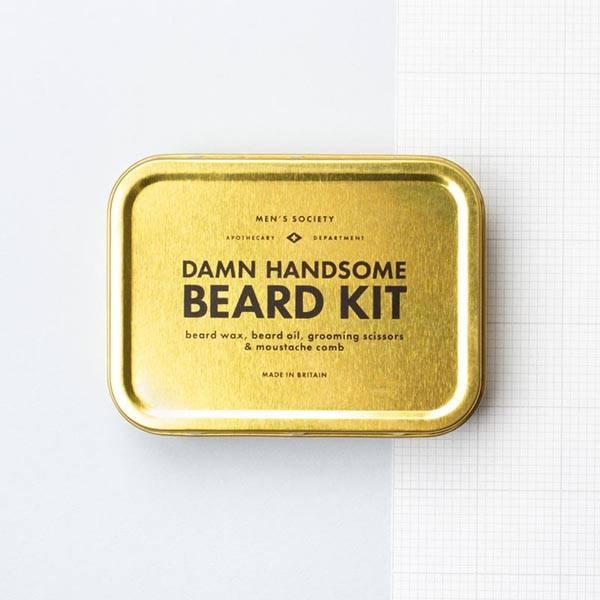 Damn Handsome Beard sett Men's Society