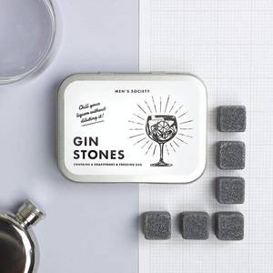 Bilde av Gin Cooling Stones gavesett Men's Society