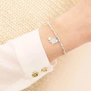 Bilde av Armbånd FRIENDSHIP Stjerner Fasett sølv Joma Jewellery