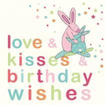 Bursdagskort Birthday wishes Rufus Rabbit
