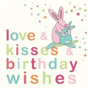 Bilde av Bursdagskort Birthday wishes Rufus Rabbit