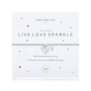 Bilde av Armbånd LIVE LOVE SPARKLE Sølv Joma Jewellery