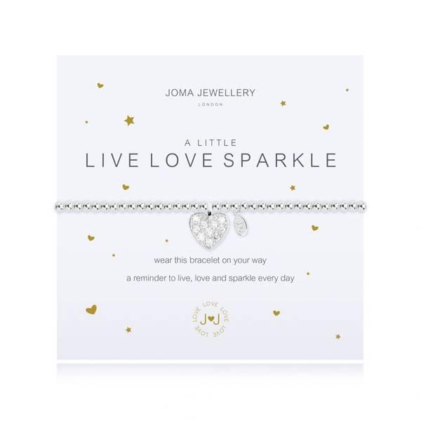 Armbånd LIVE LOVE SPARKLE Sølv Joma Jewellery