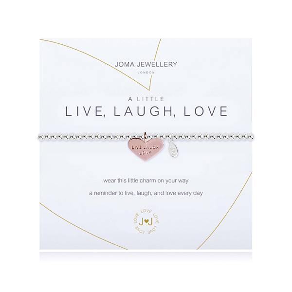 Armbånd LIVE LAUGH LOVE Rosegull Sølv Joma Jewellery