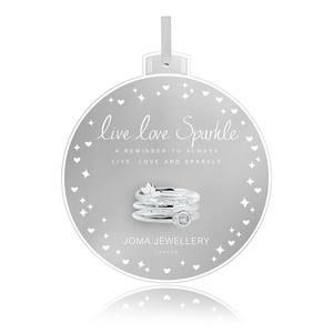 Bilde av Ringer LIVE LOVE SPARKLE 3 stk Sølv Joma Jewellery