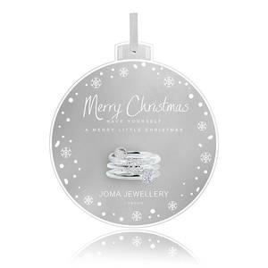 Bilde av Ringer MERRY CHRISTMAS 3 stk Sølv Joma Jewellery
