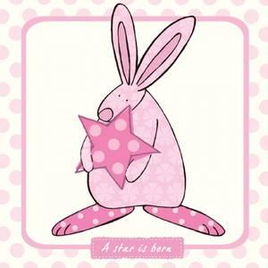 Bilde av Kort A star is born Rosa Rufus Rabbit