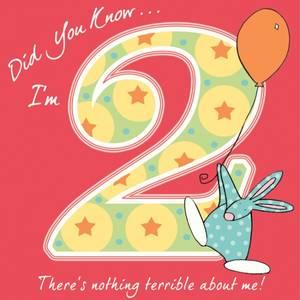 Bilde av Bursdagskort 2 år Rufus Rabbit