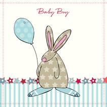 Kort Baby Boy stjerner Rufus Rabbit