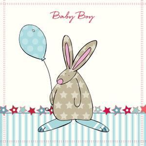 Bilde av Kort Baby Boy stjerner Rufus Rabbit