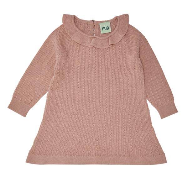 Baby kjole Merinoull Rosa FUB
