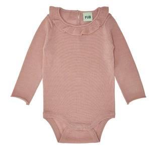 Bilde av Baby Body  m rysjer Merinoull Rosa FUB