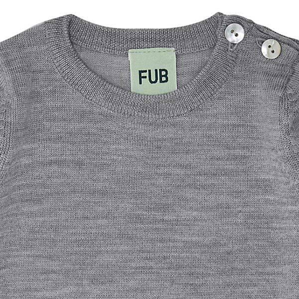Baby Body Merinoull Grå FUB