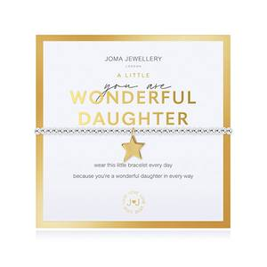 Bilde av Armbånd YOU ARE WONDERFUL DAUGHTER gull i gaveeske Joma Jeweller