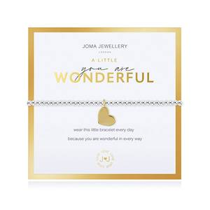 Bilde av Armbånd YOU ARE WONDERFUL gull i gaveeske Joma Jewellery