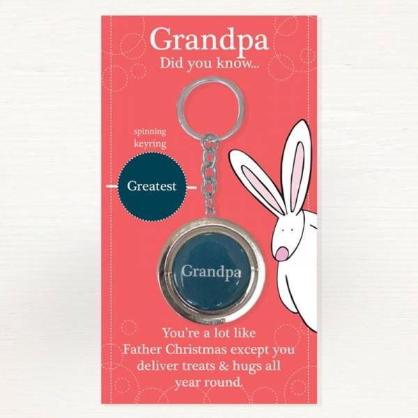 Nøkkelring Bestefar Greatest Grandpa Rufus Rabbit